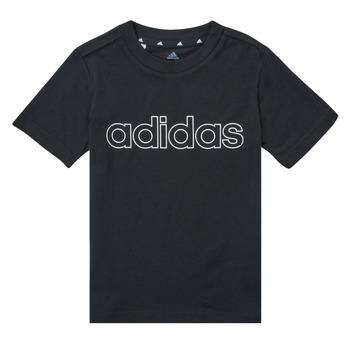 textil Dreng T-shirts m. korte ærmer adidas Performance SAMINA Sort
