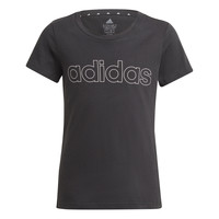 textil Pige T-shirts m. korte ærmer adidas Performance PLAKAT Sort