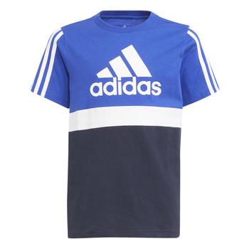 textil Dreng T-shirts m. korte ærmer adidas Performance ABATIA Marineblå / Sort