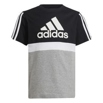 textil Dreng T-shirts m. korte ærmer adidas Performance MOULITA Grå / Sort