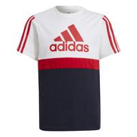 textil Dreng T-shirts m. korte ærmer adidas Performance GUILIA Hvid / Marineblå
