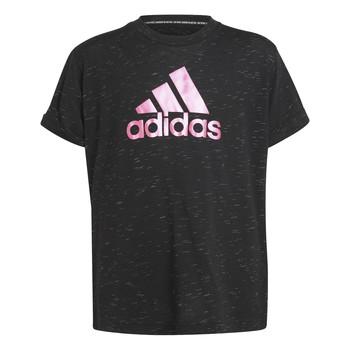 textil Pige T-shirts m. korte ærmer adidas Performance MONICA Sort