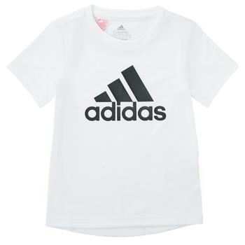 textil Dreng T-shirts m. korte ærmer adidas Performance NADEGE Hvid