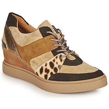 Sko Dame Lave sneakers Mam'Zelle PERRY Beige / Sort / Leopard