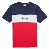 textil Pige T-shirts m. korte ærmer Fila TEKANI Rød / Marineblå