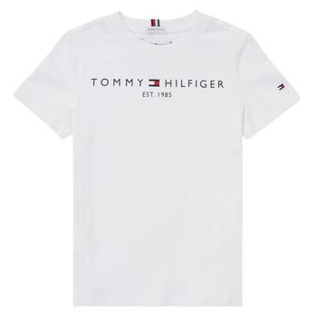 textil Dreng T-shirts m. korte ærmer Tommy Hilfiger SELINERA Hvid