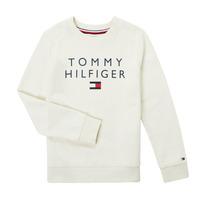textil Dreng Sweatshirts Tommy Hilfiger HERTINA Hvid