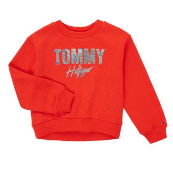 textil Pige Sweatshirts Tommy Hilfiger KOMELA Rød
