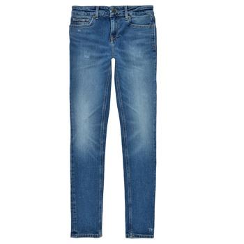 textil Pige Jeans - skinny Tommy Hilfiger JEANNOT Blå