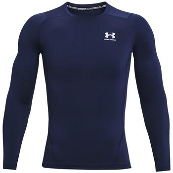 textil Herre Langærmede T-shirts Under Armour Heatgear Armour Long Sleeve Blå
