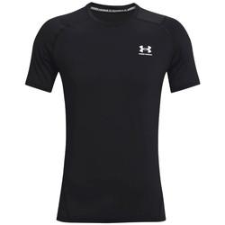 textil Herre T-shirts m. korte ærmer Under Armour Heatgear Armour Fitted Short Sleeve Sort
