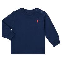 textil Dreng Langærmede T-shirts Polo Ralph Lauren FADILA Marineblå