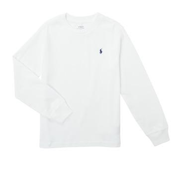 textil Dreng Langærmede T-shirts Polo Ralph Lauren KEMILO Hvid