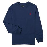 textil Dreng Langærmede T-shirts Polo Ralph Lauren KEMILO Marineblå
