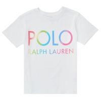 textil Pige T-shirts m. korte ærmer Polo Ralph Lauren FERILO Hvid