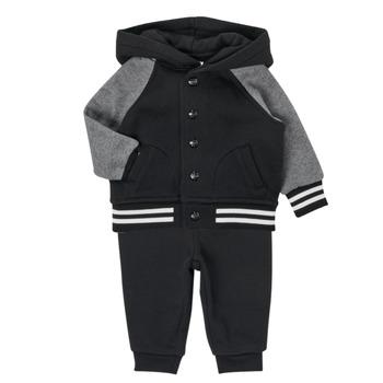 textil Dreng Sæt Polo Ralph Lauren DENILO Sort / Grå