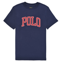 textil Pige T-shirts m. korte ærmer Polo Ralph Lauren MATIKA Marineblå