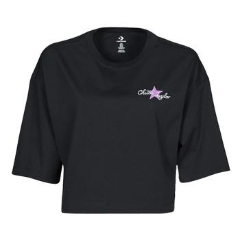 T-shirts m. korte ærmer Converse  CHUCK INSPIRED HYBRID FLOWER OVERSIZED CROPPED TEE