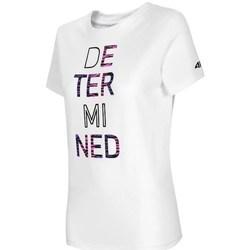 textil Dame T-shirts m. korte ærmer 4F TSD018 Hvid