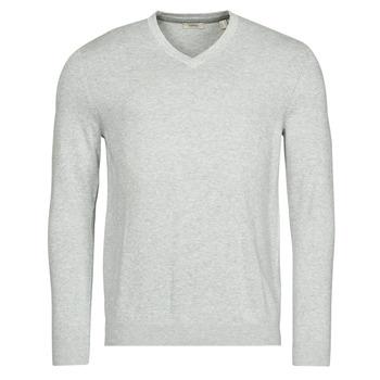 textil Herre Pullovere Esprit F PIMA V-NK Grå