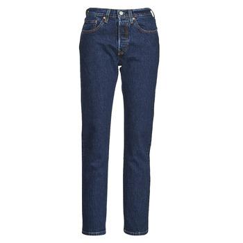 textil Dame Jeans - boyfriend Levi's 501 CROP Blå