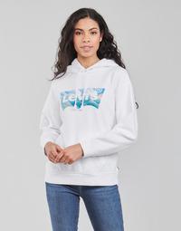 textil Dame Sweatshirts Levi's GRAPHIC STANDARD HOODIE Hvid