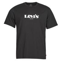 textil Herre T-shirts m. korte ærmer Levi's SS RELAXED FIT TEE Sort