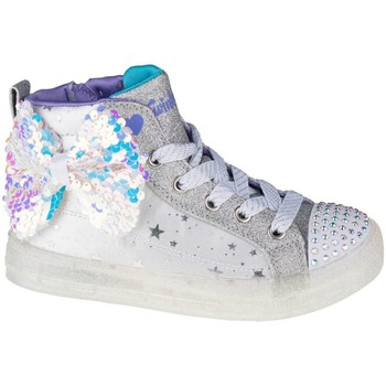 Sko Børn Høje sneakers Skechers Shuffle Brights 20 Hvid, Grå