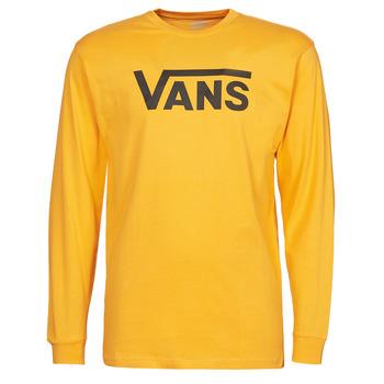 textil Herre Langærmede T-shirts Vans VANS CLASSIC LS Gul / Sort