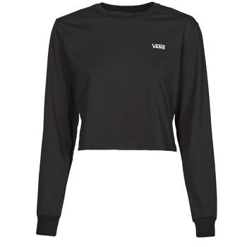textil Dame Langærmede T-shirts Vans JUNIOR V LS CROP Sort