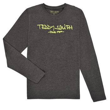 textil Dreng Langærmede T-shirts Teddy Smith TICLASS3 ML Grå