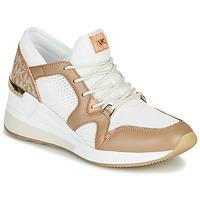 Sko Dame Lave sneakers MICHAEL Michael Kors LIV Kamel / Hvid