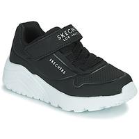 Sko Børn Lave sneakers Skechers UNO LITE Sort