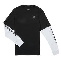 textil Dreng Langærmede T-shirts Vans LONG CHECK TWOFER Sort