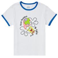 textil Pige T-shirts m. korte ærmer Vans VANS X SPONGEBOB BEST BUDDIES RINGER Hvid