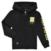 textil Dreng Sweatshirts Vans BY VANS X SPONGEBOB HAPPY FACE KIDS FZ Sort
