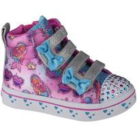 Sko Børn Høje sneakers Skechers Twi-Lites Mermaid Gems Pink