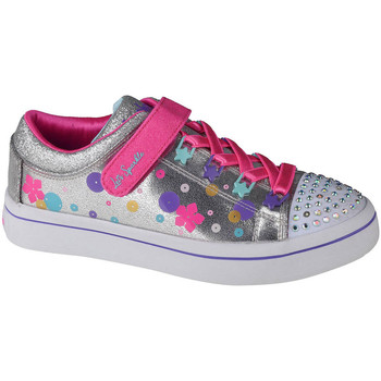 Sko Børn Lave sneakers Skechers Twi-Lites Sølv