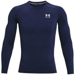 textil Herre Langærmede T-shirts Under Armour Heatgear Armour Flåde