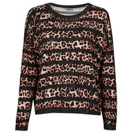 textil Dame Pullovere Liu Jo WF1538 Leopard