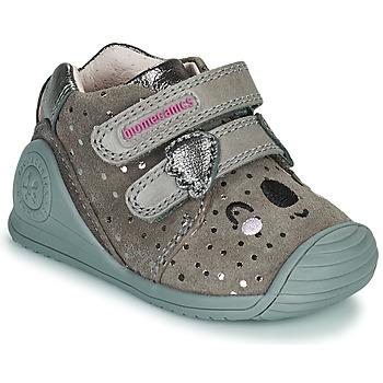 Sko Pige Lave sneakers Biomecanics BIOGATEO CASUAL Muldvarpegrå