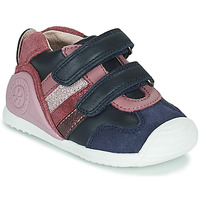 Sko Pige Lave sneakers Biomecanics BIOGATEO SPORT Marineblå / Pink