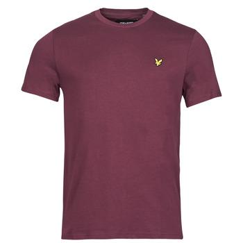 textil Herre T-shirts m. korte ærmer Lyle & Scott ROBINA Bordeaux