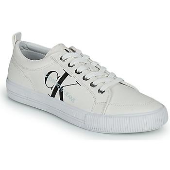 Sko Dame Lave sneakers Calvin Klein Jeans VULCANIZED LACEUP SNEAKER Hvid