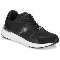 Sko Dame Lave sneakers Calvin Klein Jeans FLEXRUNNER MIXED MATERIALS Sort / Sølv