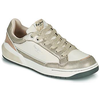 Sko Dame Lave sneakers Pepe jeans MARBLE GLAM Hvid / Guld