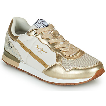 Sko Dame Lave sneakers Pepe jeans ARCHIE TOP Guld