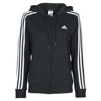 textil Dame Sweatshirts adidas Performance W 3S FT FZ HD Sort