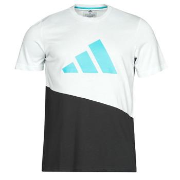 textil Herre T-shirts m. korte ærmer adidas Performance FUTURE BLK TEE Hvid / Krystal