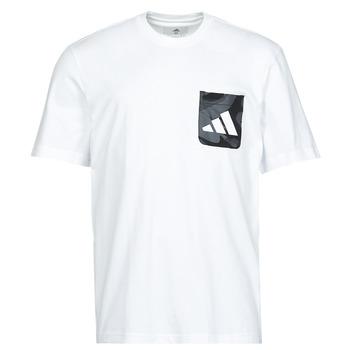 textil Herre T-shirts m. korte ærmer adidas Performance CAMO PKT TEE Hvid
